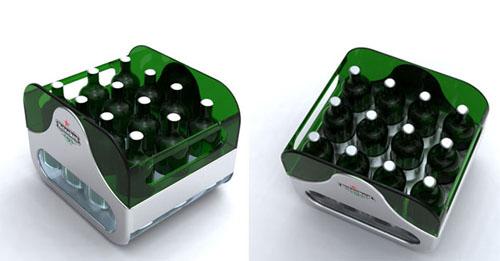 O ladă de bere Heineken