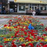 Crucea de flori, la Hunedoara