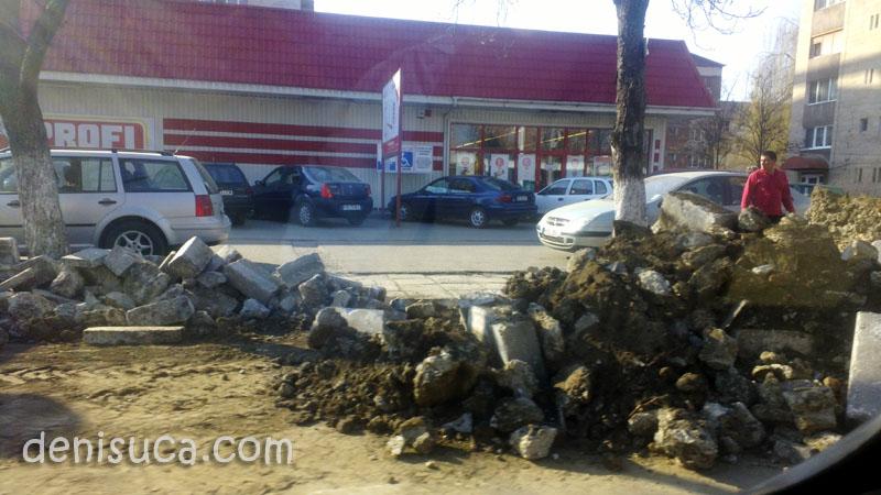 Bulevardul Dacia din Hunedoara, martie 2012