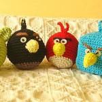 Bijucăria săptămânii XVIII: Angry Birds croşetate de Mama Z