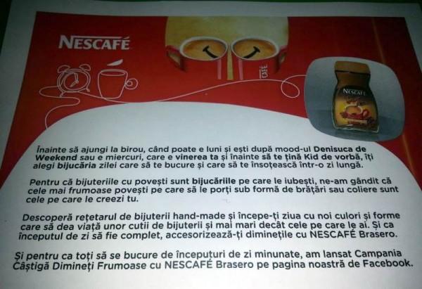 Cadou de la Nescafe Brasero