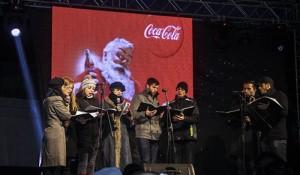 Caravana Coca-Cola la Pietroasele - Corul de colindători