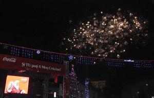 Caravana Coca-Cola la Pietroasele - Focuri de artificii