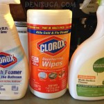 SUA: Clorox bleach foamer, Clorox disinfecting wipes, Seventh Generation disinfecting multi-surface cleaner