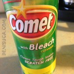 SUA: Comet with bleach cleanser