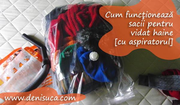 Cum funcţionează sacii pentru vidat haine cu aspiratorul