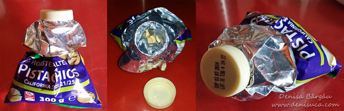 Sticluţă de iaurt reciclată