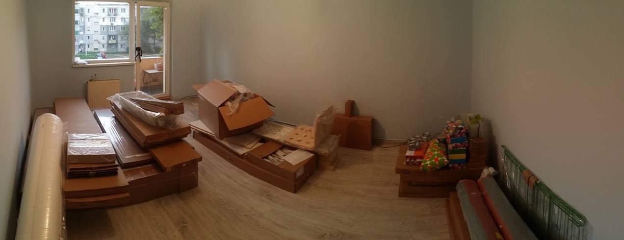 camera cu mobila în pachete - puzzle