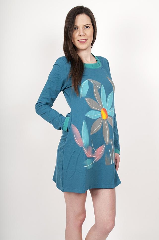 06 rochie-bumbac-floare-albastra