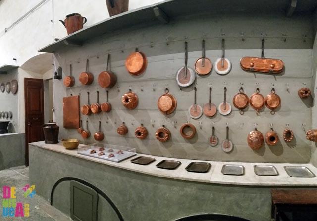 Unelte din bucătăria palatului Pitti